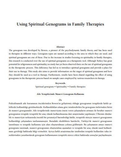 spiritual genograms in family therapies and career