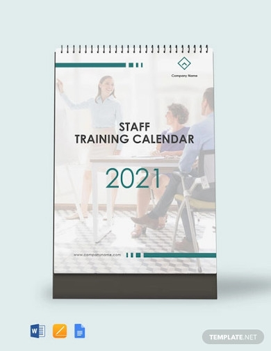 staff training desk calendar