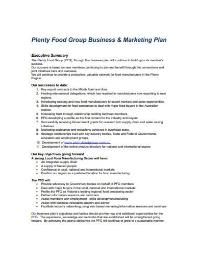 street food marketing plan