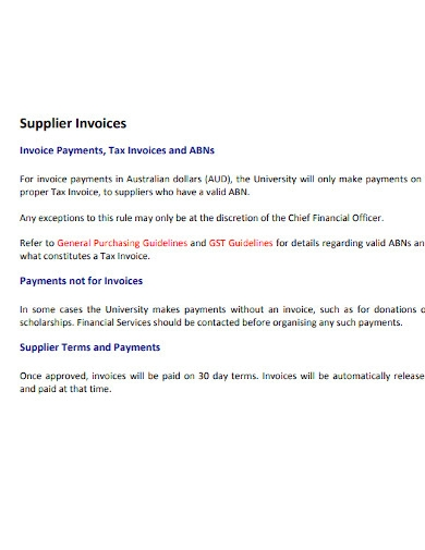 supplier invoice payment