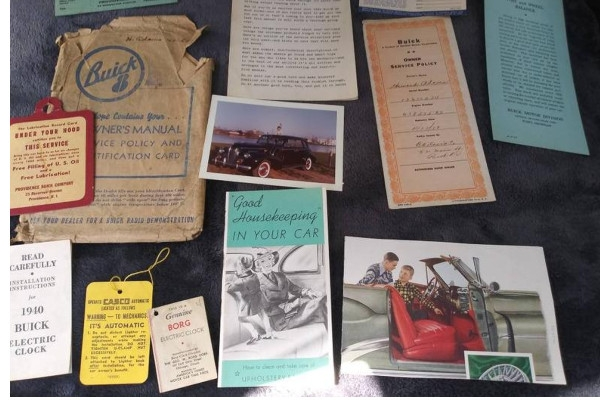 vintage car dealership brochure