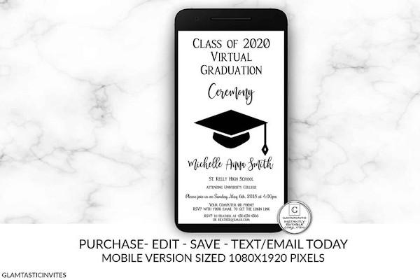 virtual graduation ceremony invitation