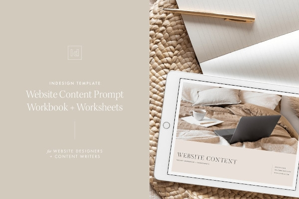 website content indesign template