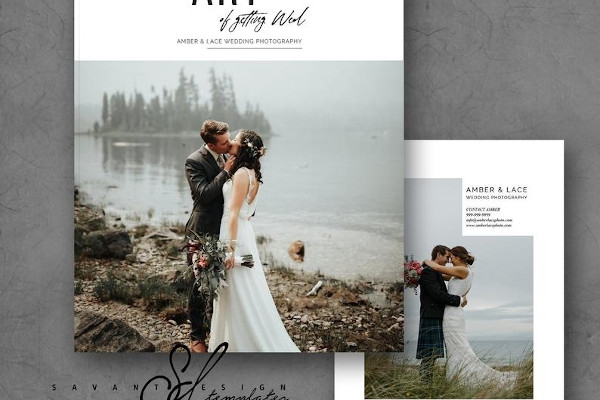 wedding photography indesign template