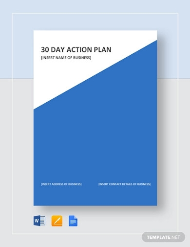 30 day action plan
