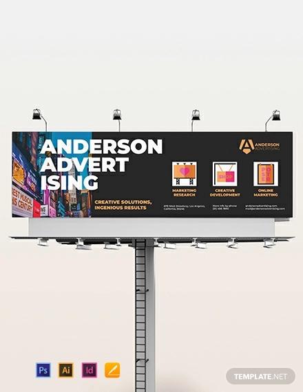 advertising agency billboard template
