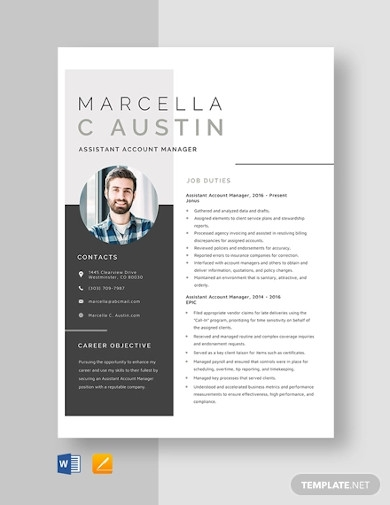 assistant account manager resume