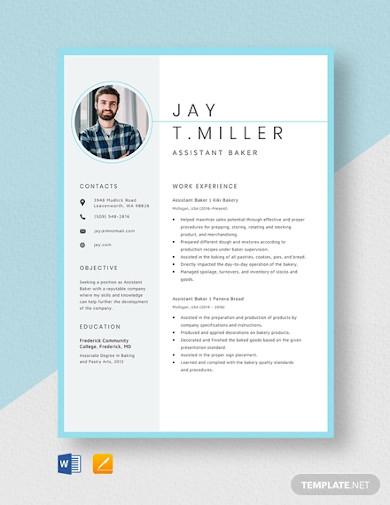 assistant banker resume template