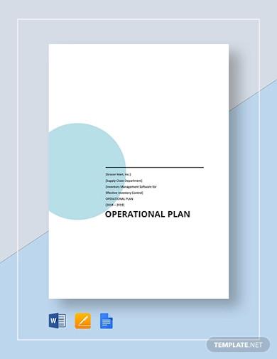 basic operational plan template