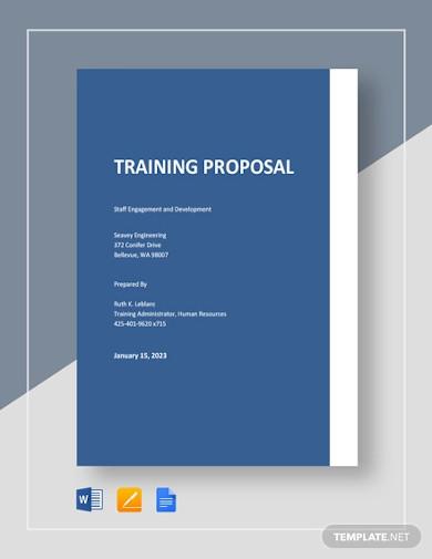 basic training proposal template