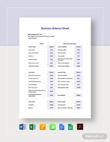 12 Free Real Estate Balance Sheet Examples Templates Download Now Examples