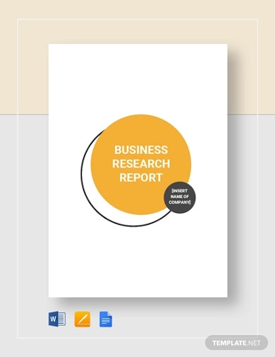 business research report template