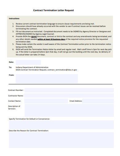 business service termination letter