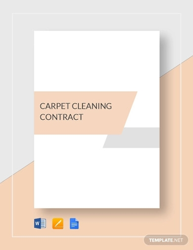 carpet cleaning contract template