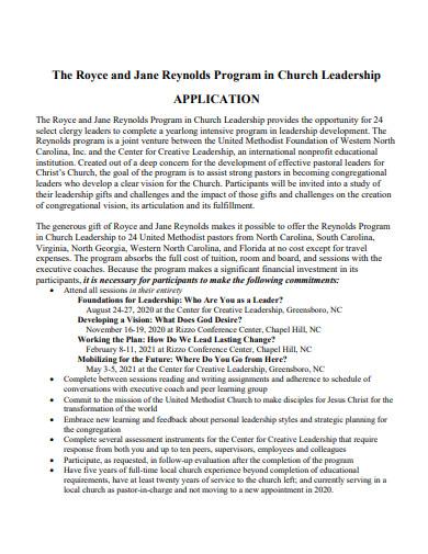 church leadership program