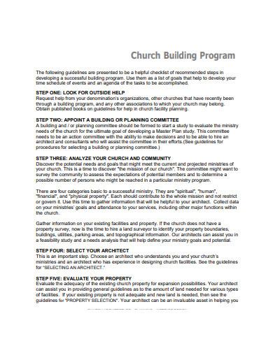 church meeting program