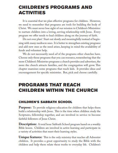 church program for children