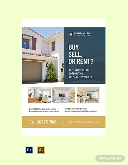 commercial real estate poster template