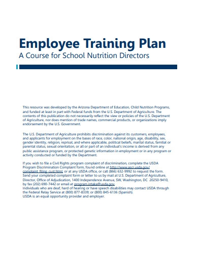 company employee training plan