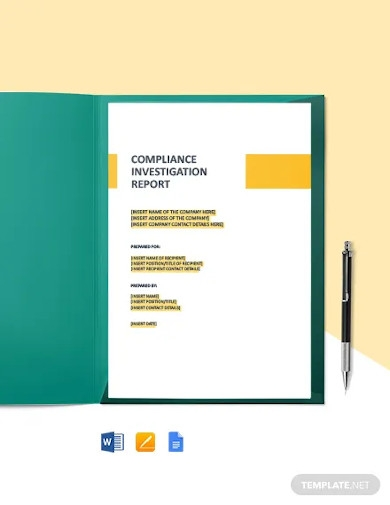 compliance investigation report template