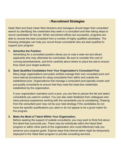 consultant recruitment strategies