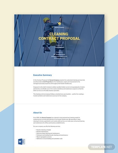 contract proposal sample template
