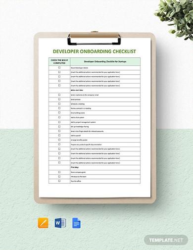 developer onboarding checklist