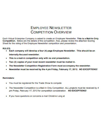 employee newsletter example