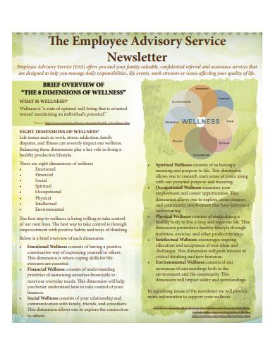 employee service newsletter