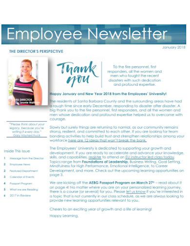 employee university newsletter