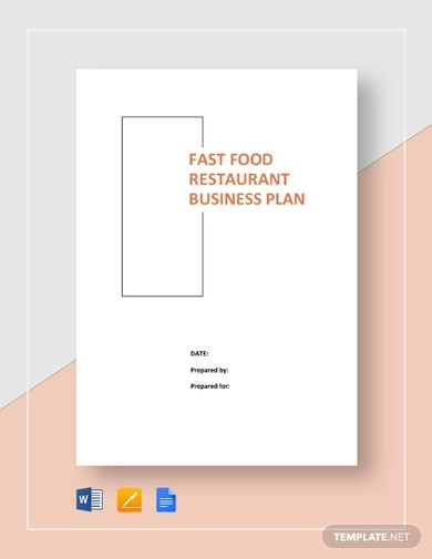 food restaurant business plan