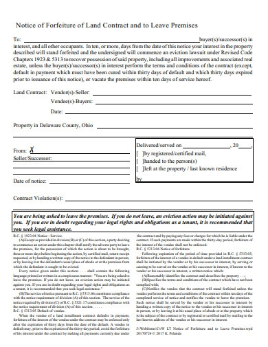 formal land contract form