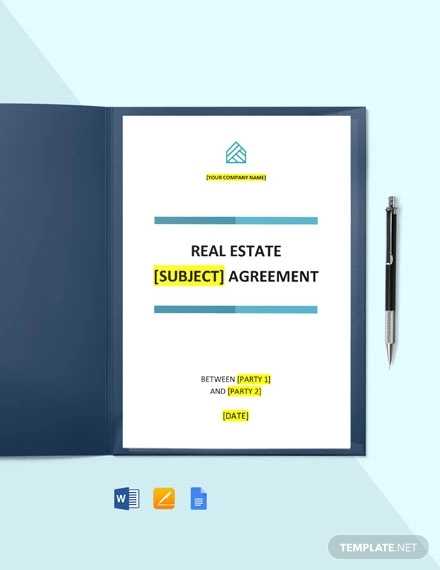 free basic real estate agreement template1