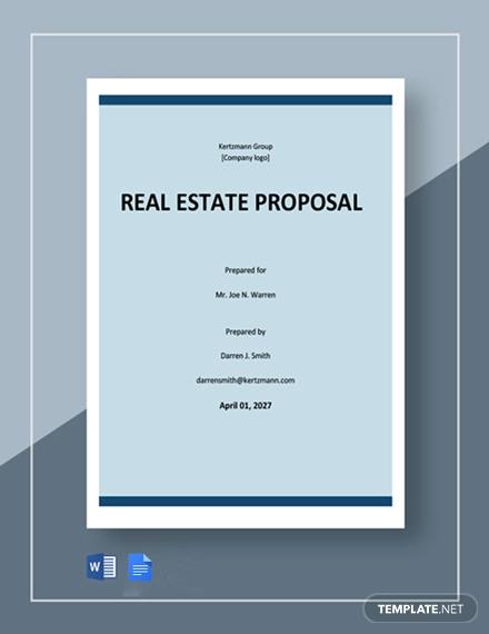 free basic real estate proposal template1