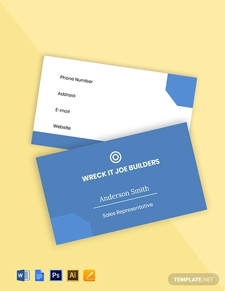 free flat real estate business card template