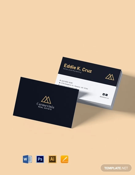 free professional real estate property business card template