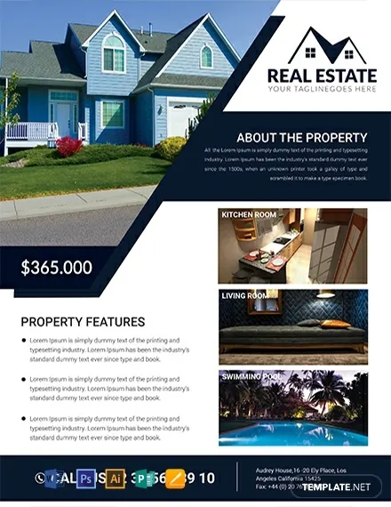 free real estate house flyer template