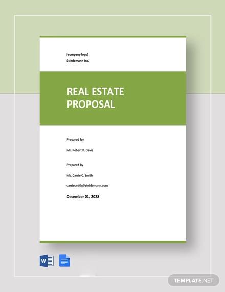 free sample real estate proposal template1
