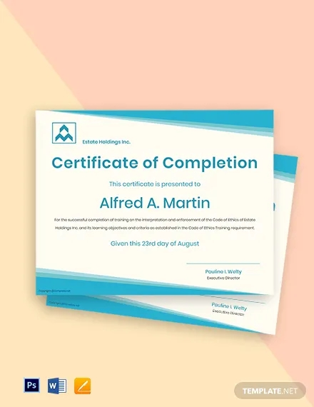 free simple real estate certificate template