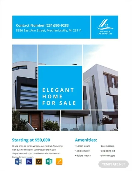 free simple real estate flyer template