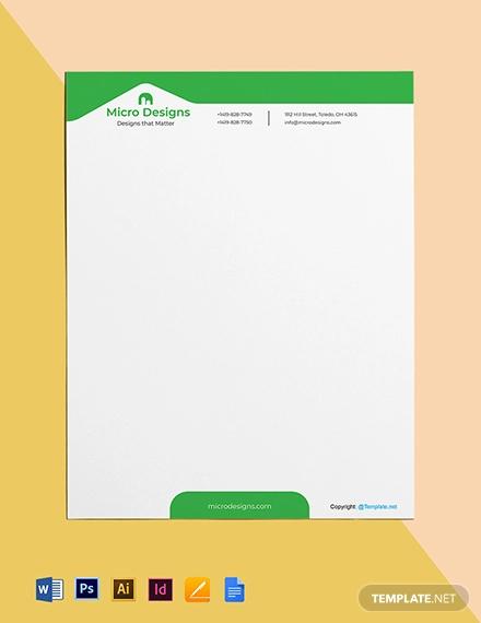 free simple real estate letterhead template