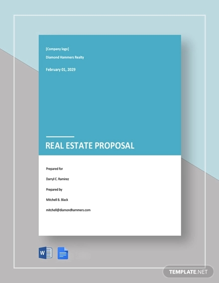 free simple real estate proposal template1