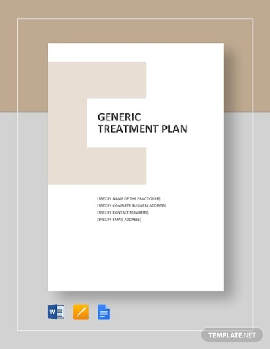 generic treatment plan template