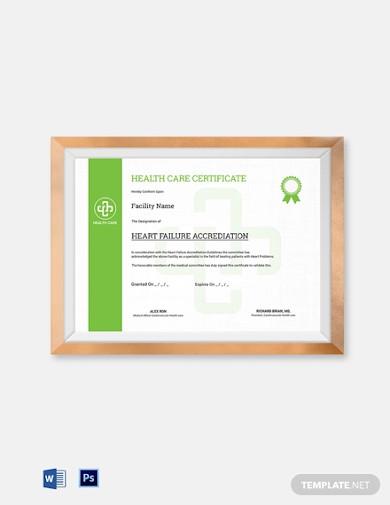 health care certificate