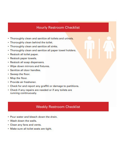 hourly restroom checklist