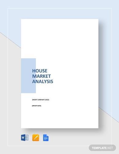 housing market analysis template