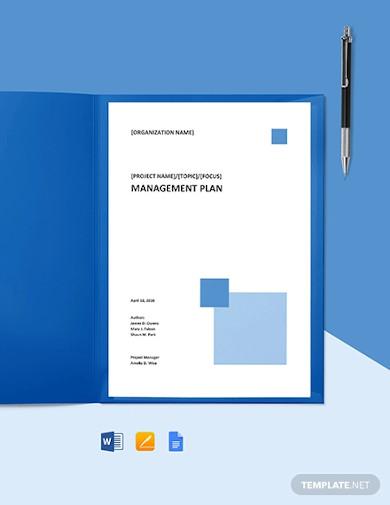 it change management plan template