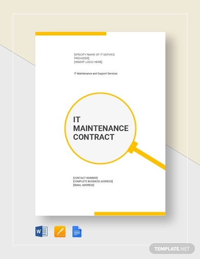 it maintenance contract