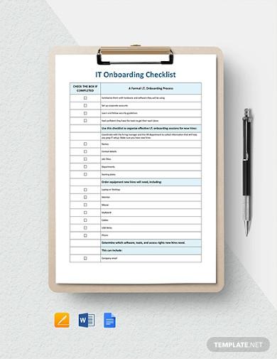 it onboarding checklist