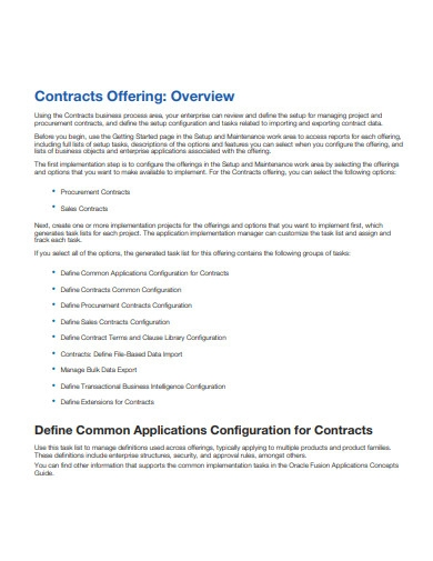 it support and management contract